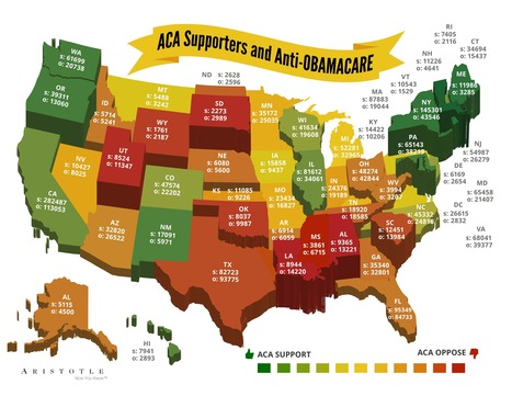 Affordable Care Act -- Support & Opposition per State | BHS GOPO | Scoop.it