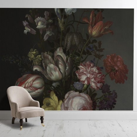 'Flowers in a Vase with Shells and Insects'' - SurfaceView | Interior Wallpaper | Scoop.it