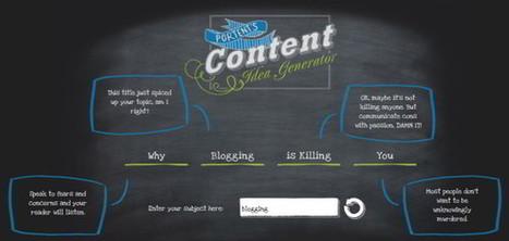 Blogging : un générateur de titres et de sujets pour vos billets | Choblab | Geeks | Scoop.it
