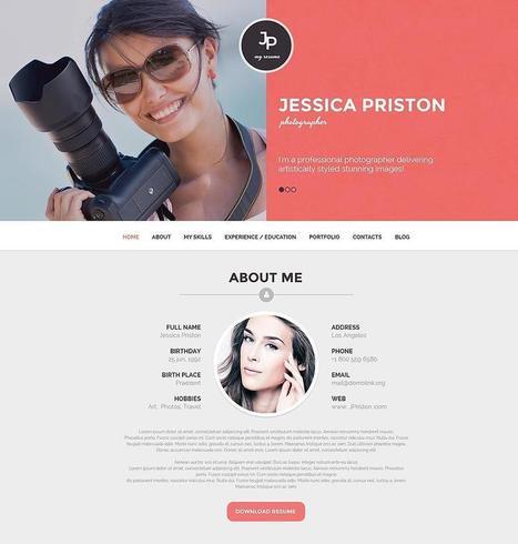 10+ Best Resume WordPress Themes 2015   Professional WordPress Themes Designs   Scoop.it