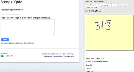 Google Forms FINALLY Loves Math | Web 2.0 for Education | Scoop.it