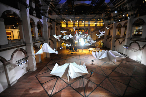 Dazzling Display of Giant Origami Birds Suspended from the Ceiling | Maths and Paper-engineering | Scoop.it