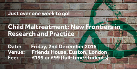 Child Maltreatment: New Frontiers in Research and Practice – Anna Freud Centre, London | ESCAP child and adolescent psychiatry | Scoop.it