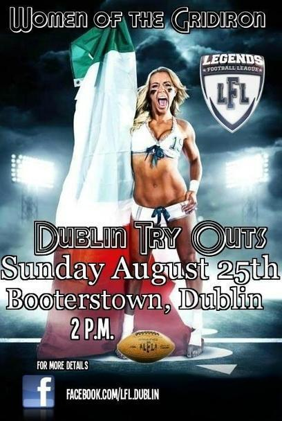 Twitter / LFLDublin: LFL Dublin Try Outs, this Sunday ... | LFL - Lingerie Football League | Scoop.it