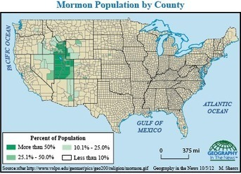 Geography in the News: Mormons - National Geographic | Human Geography | Scoop.it