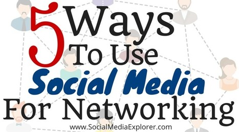 5 Ways to Use Social Media as a Networking Strategy - Social Media Explorer via @malekalby | AtDotCom Social media | Scoop.it