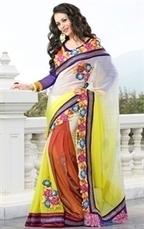 Exclusive and Attractive Fancy Georgette Saree Collectio | Indian Wardrobe | Scoop.it