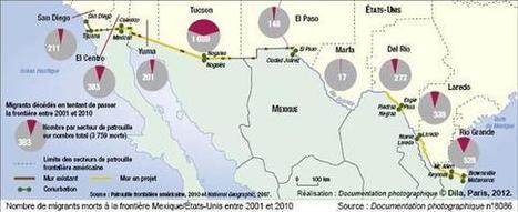Carte : Nombre de migrants morts à la frontière Mexique/États-Unis entre 2001 et 2010 (La Documentation française) | Murs & frontières | Scoop.it