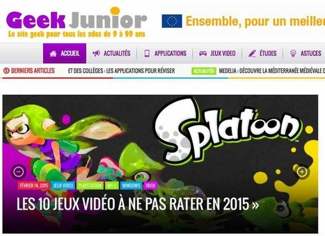 Lancement de Geek Junior, le premier média d'information high-tech à destination des adolescents | TUICE_Université_Secondaire | Scoop.it