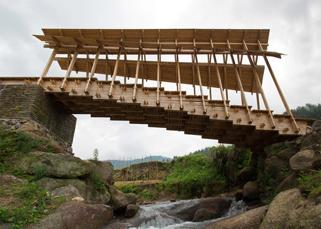 Huge timber steps form bridge built by students in rural China | What's new in Design + Architecture? | Scoop.it