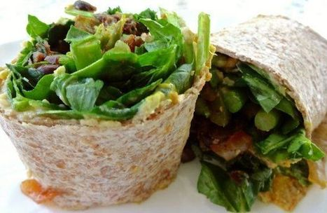 Vegan recipe: Salad wraps with beans and greens | My Vegan recipes | Scoop.it