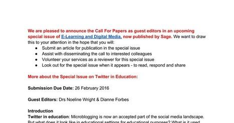 call for papers | Pedagogy in schools | Scoop.it