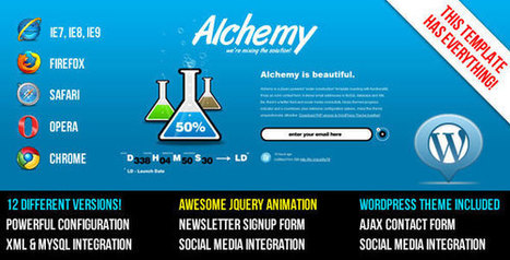 Alchemy v1.0 - Under Construction Template + WP Theme - Yocto Templates | YOCTO WordPress Themes & Plugins | Scoop.it