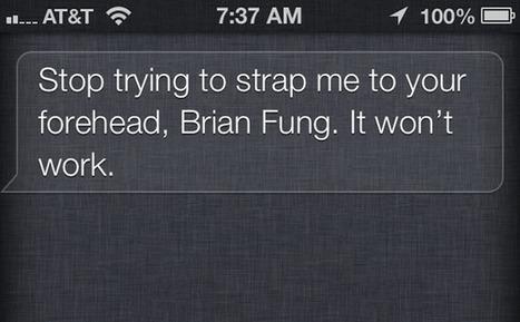 If you troll Siri by asking about Google Glass, Siri snarks back - Washington Post (blog) | Future tech | Scoop.it