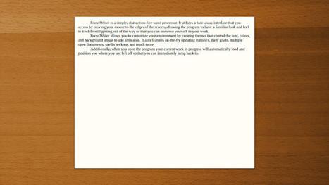 FocusWriter, una gran herramienta para escribir ebooks | Educacion, ecologia y TIC | Scoop.it