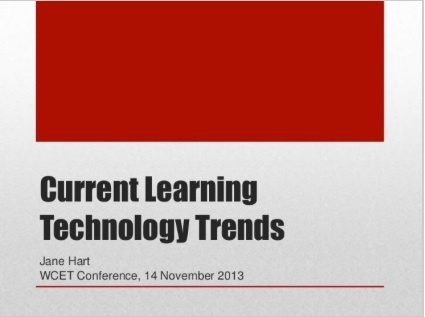 Current Learning Technology Trends from Jane Hart | Technology for Learning | Scoop.it