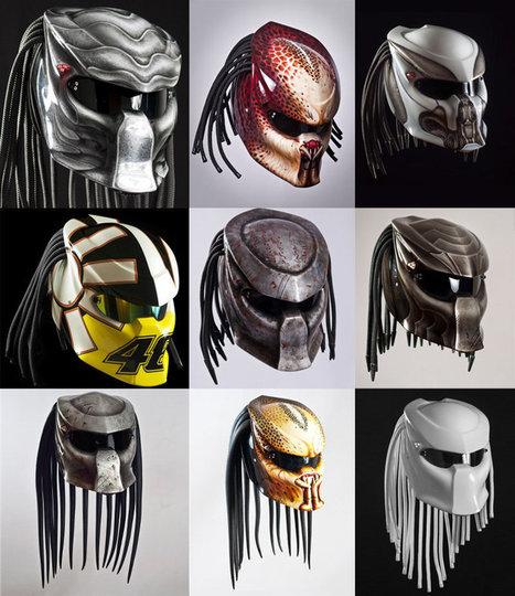 Insolite : Un casque moto à l'image du Predator - L'équipement.fr | Actualité moto | Scoop.it
