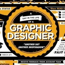 A Day in the Life of a Graphic Designer | Visual.ly | Diseñar es vivir con inspiración | Scoop.it
