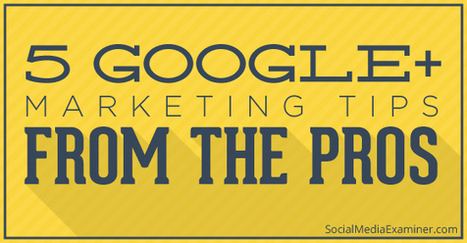 5 Google+ Marketing Tips From the Pros | Social Media Examiner | In PR & the Media | Scoop.it