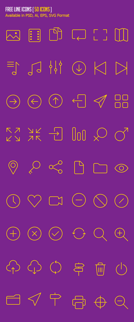 500 Free Icons for ios8 & Android UI Design | Web Increase | Scoop.it