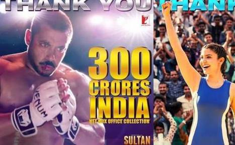 Sultan enters Rs 300 crore club in India, makers release poster | Entertainment News | Scoop.it