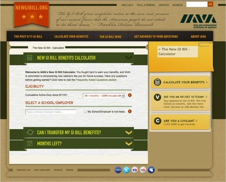 IAVA Unveils New GI Bill Calculator to Help Post-9/11 Veterans Prep for College | Homeless Female Veterans | Scoop.it