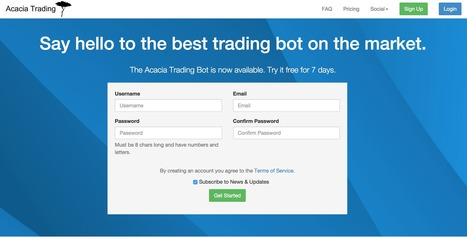 Acacia Trading Bot - Bitcoin & Cryptocurrency Trading Bot | Bitcoin | Scoop.it