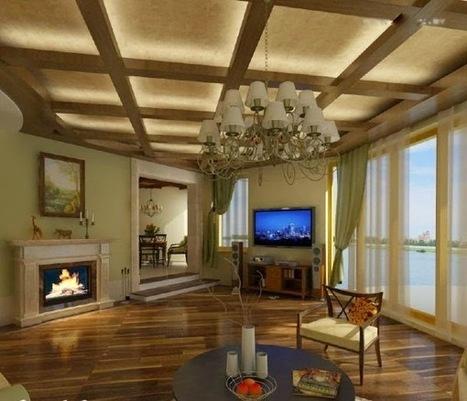 LED false ceiling lights for living room, LED strip lighting ideas in the interior | living room design | Scoop.it