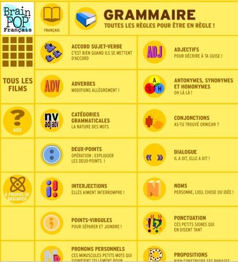 Petites animations de grammaire. | orthographe et grammaire : un programme innovant | Scoop.it