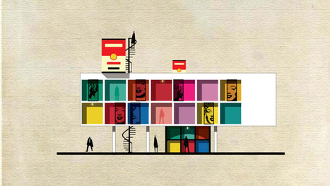All the buildings in this illustrated city are inspired by famous works of art | brand as culture | Scoop.it