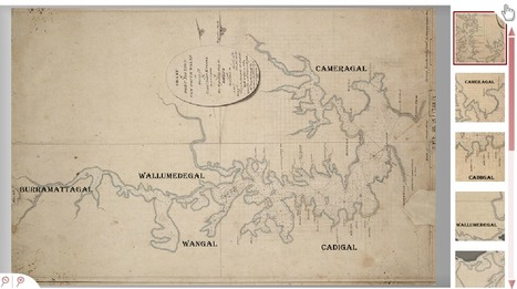 State Library of New South Wales - 1788 Chart of Port Jackson   Primary history- First Contacts   Scoop.it