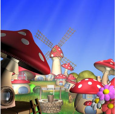 Village de champignons 3D   3D Library   Scoop.it