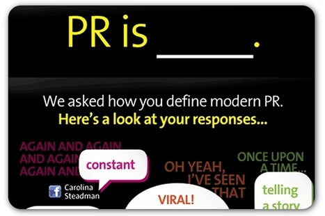 On social media, practitioners finish the line, 'PR is …' | Articles | Home | View on public relations | Scoop.it