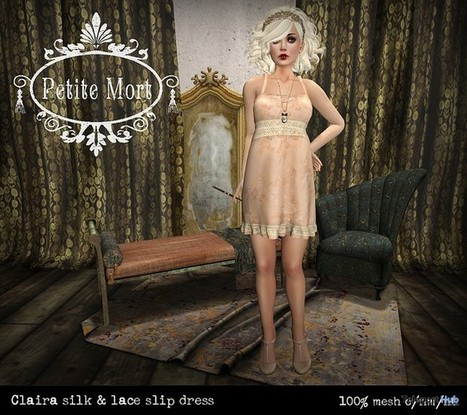 Claira Silk & Lace Slip February 2016 Group Gift by Petite Mort | Teleport Hub - Second Life Freebies | Second Life Freebies | Scoop.it