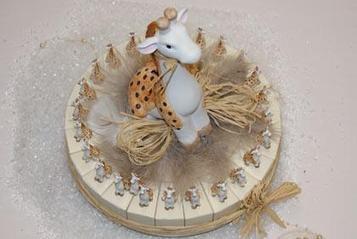 Contenant à dragées baptême gâteau girafe | Dragées classiques et originales pour mariage, baptême, communion... | Scoop.it