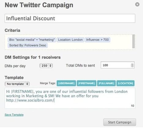 How to create a Twitter DM Campaign   jazrom   Scoop.it