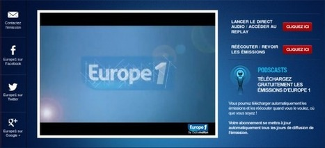 Europe 1 s'écoute et se regarde sur son site | technic2radio | Radio 2.0 (En & Fr) | Scoop.it