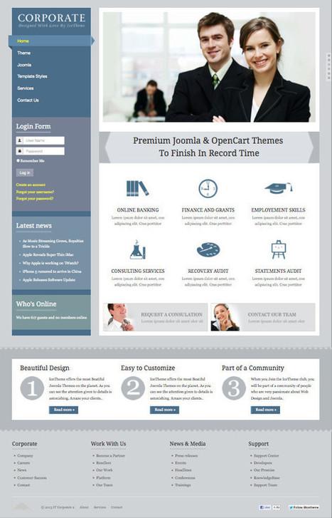 IT Corporate 2 Joomla Business Template | kampus | Scoop.it