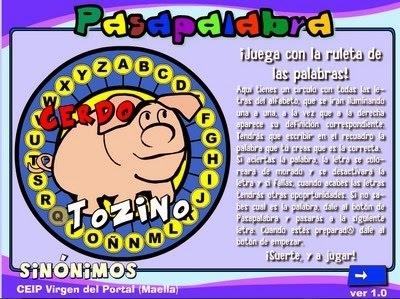 Sinónimos: Proyecto Pasapalabra | Español para los más pequeños | Scoop.it