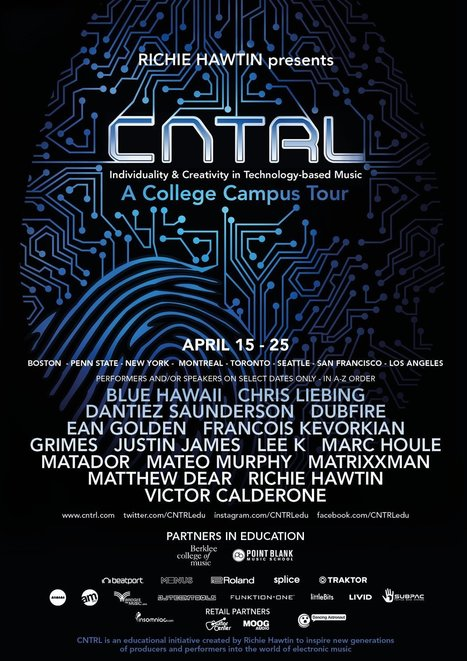 Richie Hawtin presents the CNTRL Tour 2015: Individuality & Creativity in Technology-Based Music | DJing | Scoop.it
