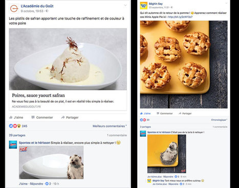 Le CM de Spontex s'amuse à « nettoyer » tous les plats des pages food ! | CommunityManagementActus | Scoop.it