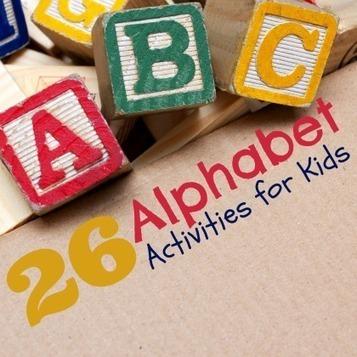 26 Alphabet Activities for Kids | Spoonful | We Love English! | Scoop.it