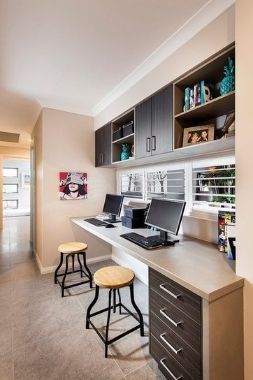 18 Practical Shared Home Office Design Ideas for More Productive Atmosphere | Home living Spaces - Kitchen - Bathroom - Living | Scoop.it