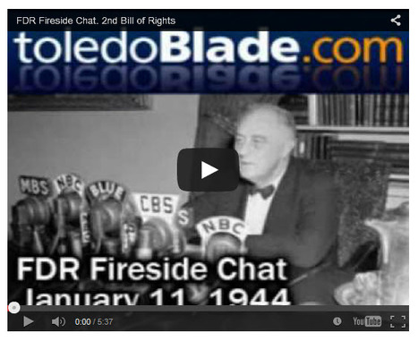 """FDR's 1944 economic bill of rights still a relevant platform for today"" 