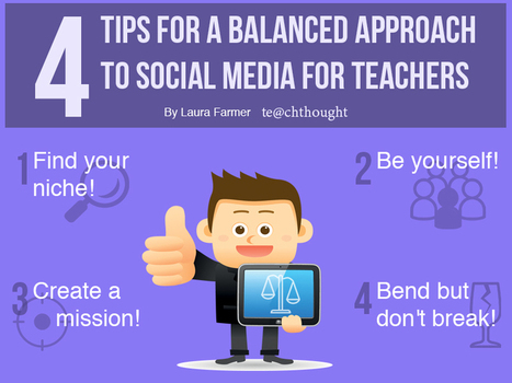 A Balanced Approach To Social Media For Teachers - Te@chThought | Social Media 4 Education | Scoop.it
