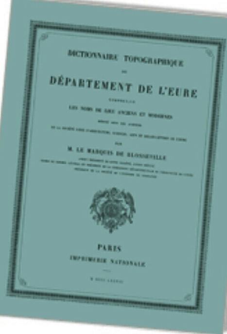 Dictionnaire topographique de la France - CTHS | Nos Racines | Scoop.it
