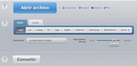 3 opciones web para cambiar de formato los archivos | Herramientas y Utilidades | Scoop.it