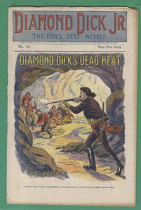 "Antique Victorian Magazine Diamond Dick Jr Weekly ""Diamond Dick's Dead Heat"" - July 15, 1899 Publication | Antiques n' Oldies | Scoop.it"