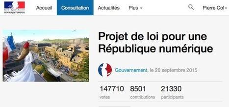 Projet de loi République Numérique: forte participation citoyenne et transparence du lobbying | Aie-Santé | Scoop.it