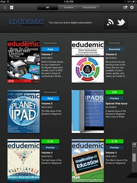 Check Out The New Edudemic Magazine App! | Edudemic | IPAD's in Education | Scoop.it